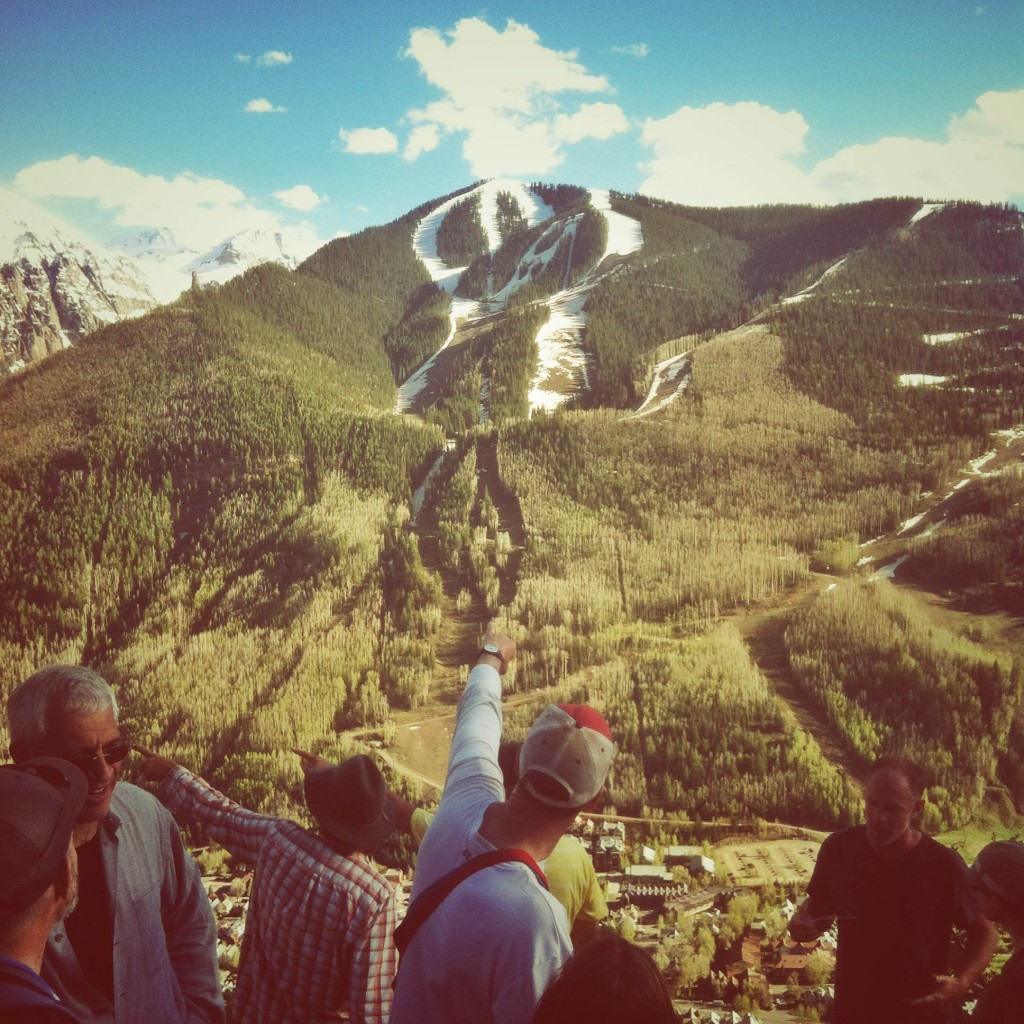 The MountainFilm Festival in Telluride Colorado is surrounded by some beautiful mountains! Gotta get outside after watching films.